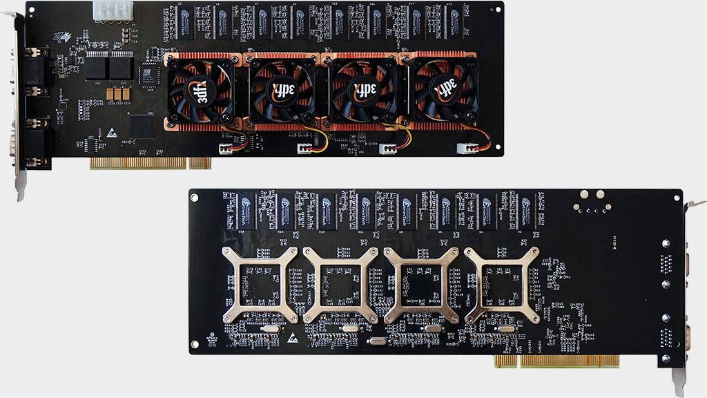 3dfx never released a quad-GPU Voodoo 5 6000 so a modder built a custom one