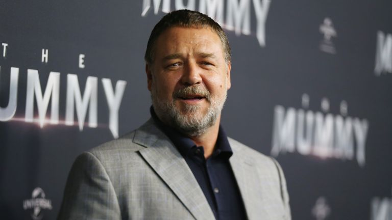 Russell Crowe arrives ahead of The Mummy Australian Premiere at State Theatre on May 22, 2017 in Sydney, Australia