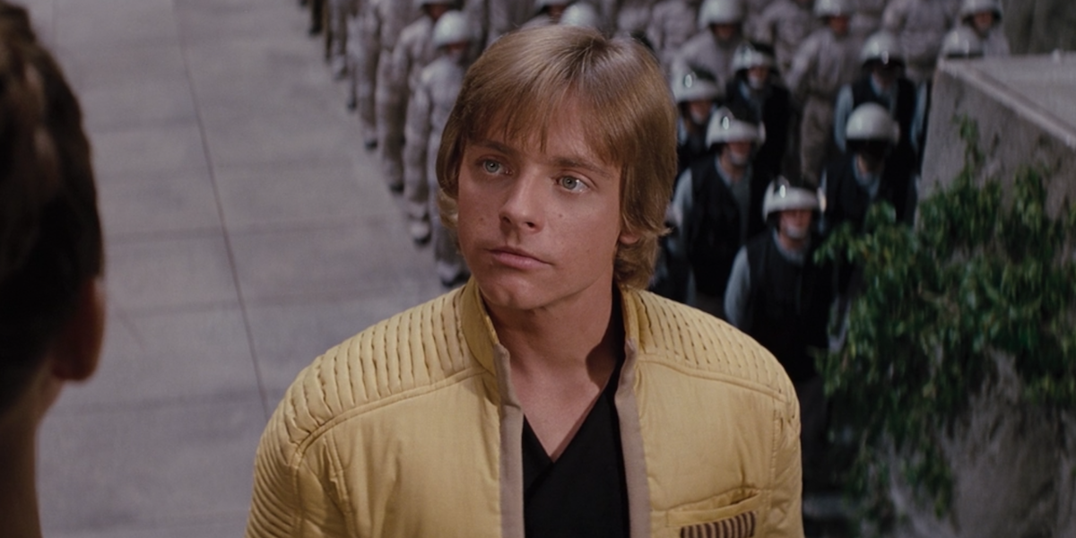 Luke in A New Hope's ending