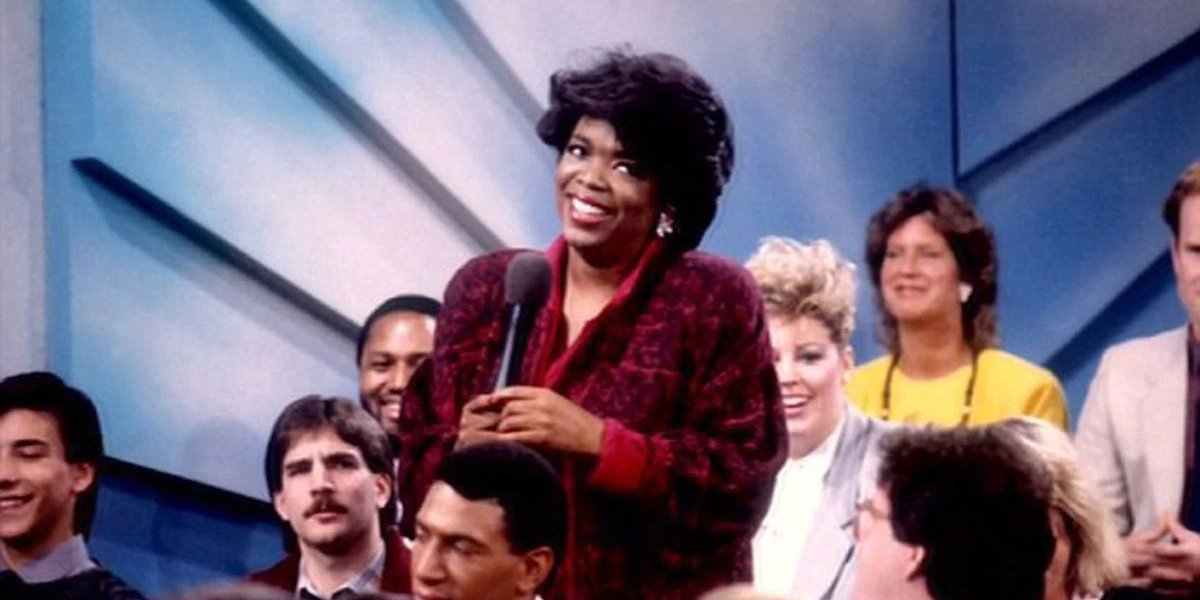 Oprah Winfrey on the first episode of her show