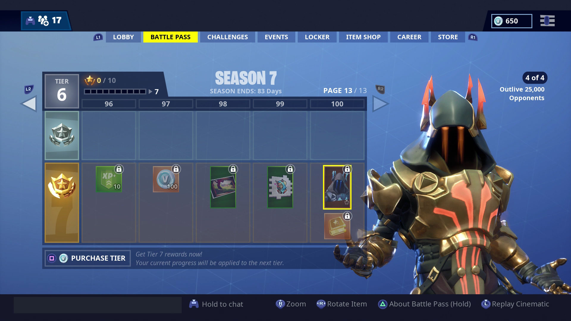 Fortnite S Season 7 Tier 100 Skin Is The Ice King And You Ll Need