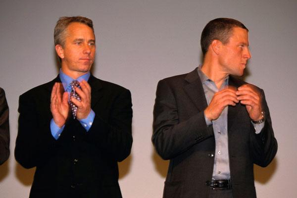Greg Lemond and Lance Armstrong, Tour de France 2003 presentation