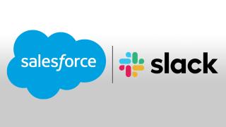 salesforce and slack logos