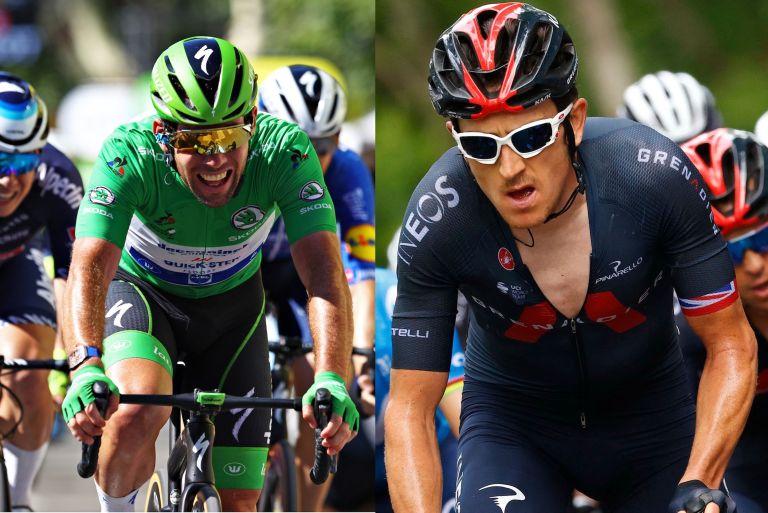 Mark Cavendish and Geraint Thomas at the Tour de France 2021