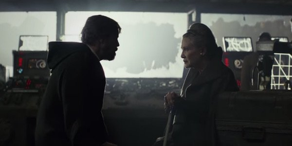 Leia and Luke on Crait