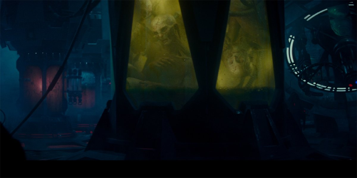 Snoke vats in Star Wars The Rise Of Skywalker