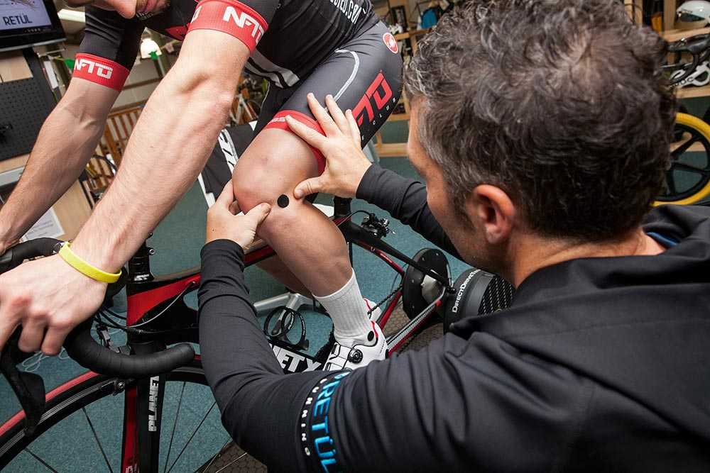 Knee pain can arise from incorrect bike fit