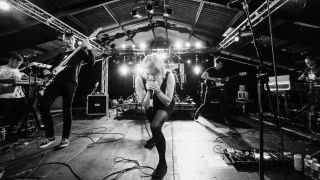 Rolo Tomassi band playing live at Tech Fest