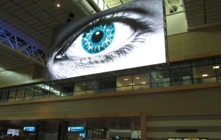 Airport Ads' Indoor Screen in African Airport