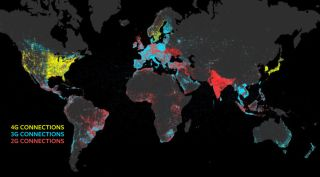 Facebook connectivity levels map