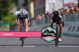 Lizzie Deignan and Coryn Rivera go head-to-head in stage 10 sprint at Giro d'Italia Donne