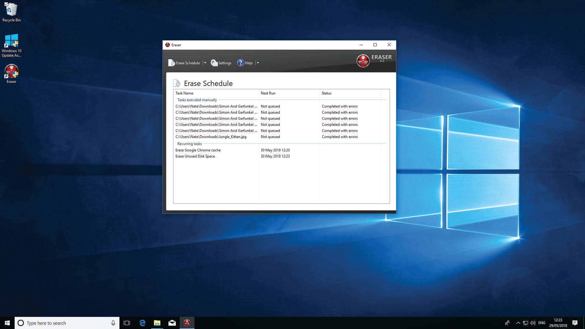 windows secure erase