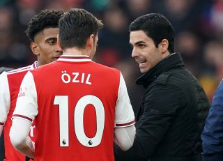 Arsenal head coach Mikel Arteta has suggested Mesut Ozil could return to his side at some point.