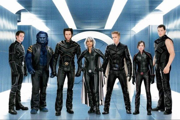 The X-Men in their bland costumes