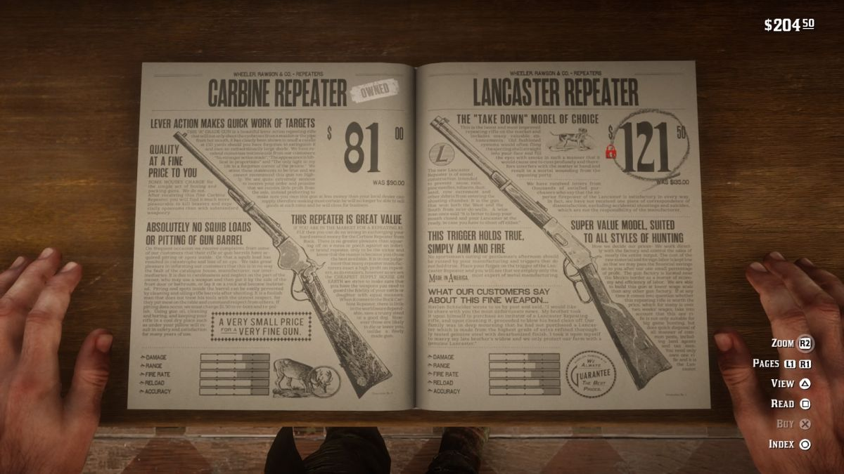 Red Dead Redemption 2 weapons guide: everything you need to