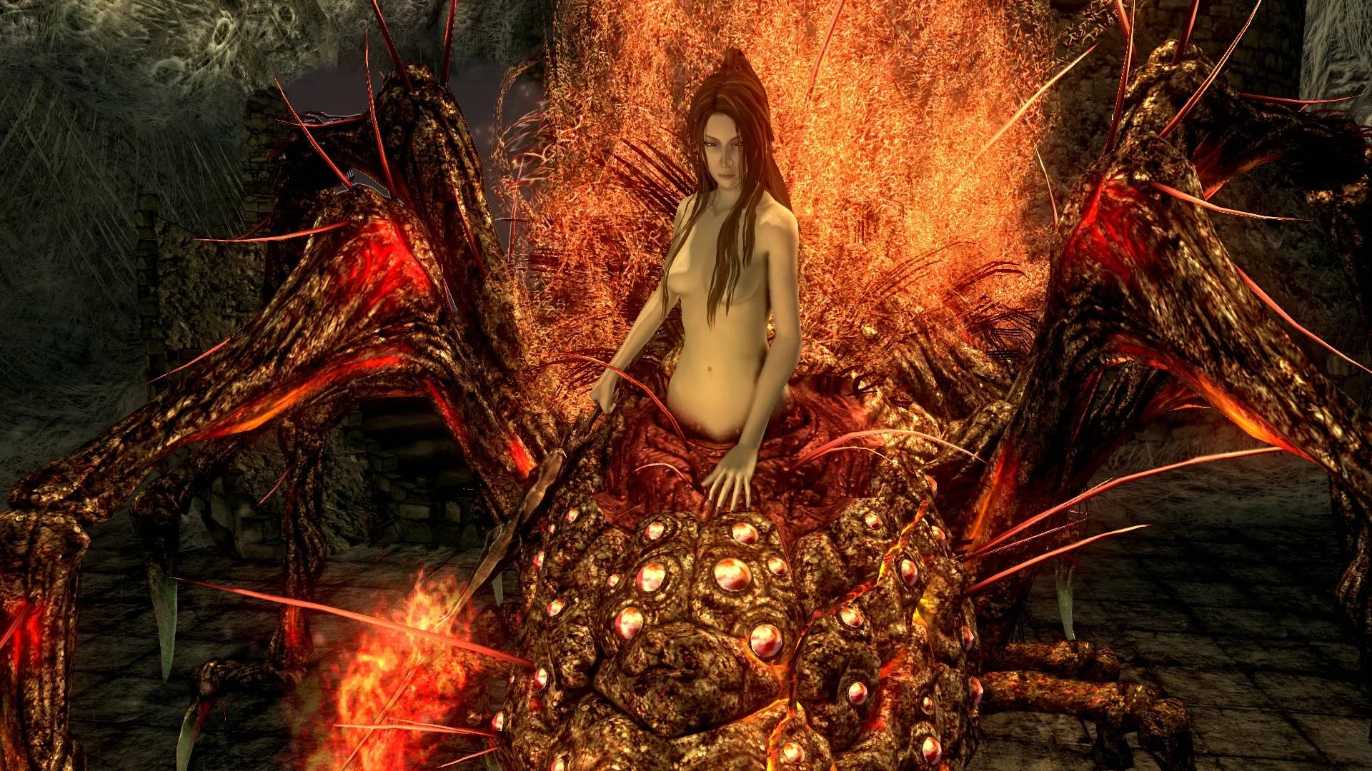 Dark Souls Chaos Witch Quelaag boss intro