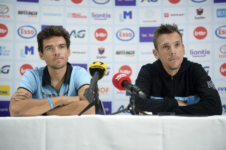 Greg Van Avermaet and Philippe Gilbert