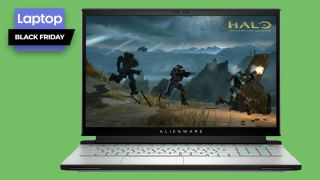 Alienware m17 r4 gaming laptop with Halo gameplay