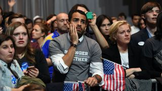 Supporters on election night 2016 at a Hillary Clinton party, when it became clear poll-based forecasts had been off target.