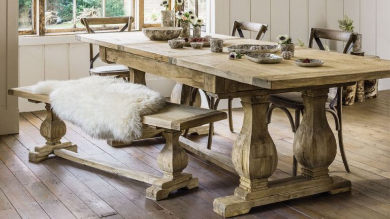 Graham & Green's reclaimed elm dining table