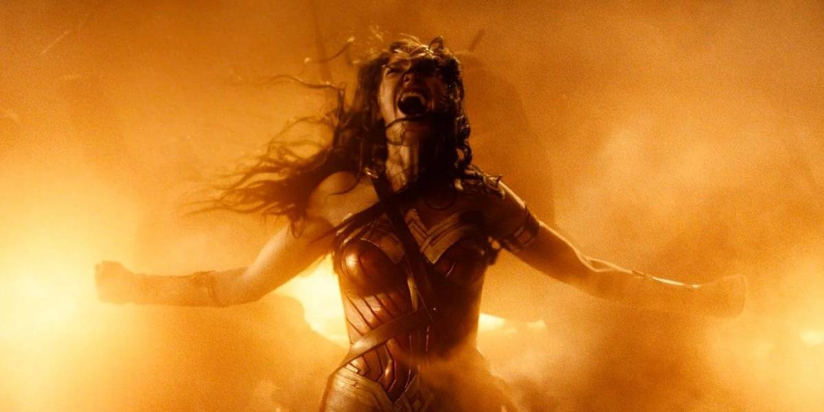 Gal Gadot at the end of Wonder Woman
