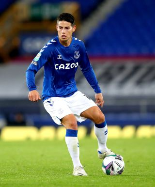 Everton's James Rodriguez will miss the Premier League game at Newcastle.