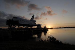 Sunrise over the High-Fidelity Space Shuttle Model