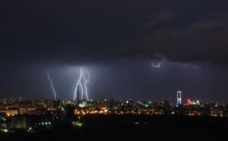 lightning from a storm