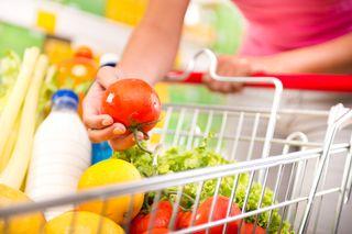 supermarket, cart, shopping, shopping cart, healthy