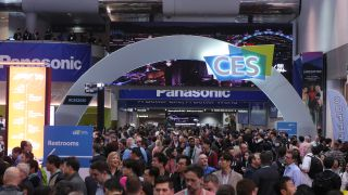 The CES 2020 show opening arch.