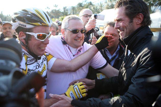 Mario Cipollini Mark Cavendish Milan San Remo 2009