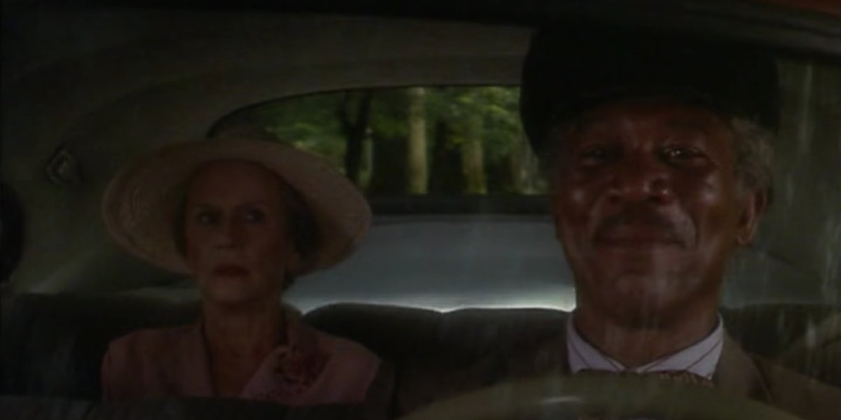 Jessica Tandy and Morgan Freeman in Driving Ms. Daisy