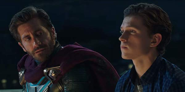 Jake Gyllenhaal and Tom Holland as Mysterio and Peter Parker in Spider-Man: Far From Home