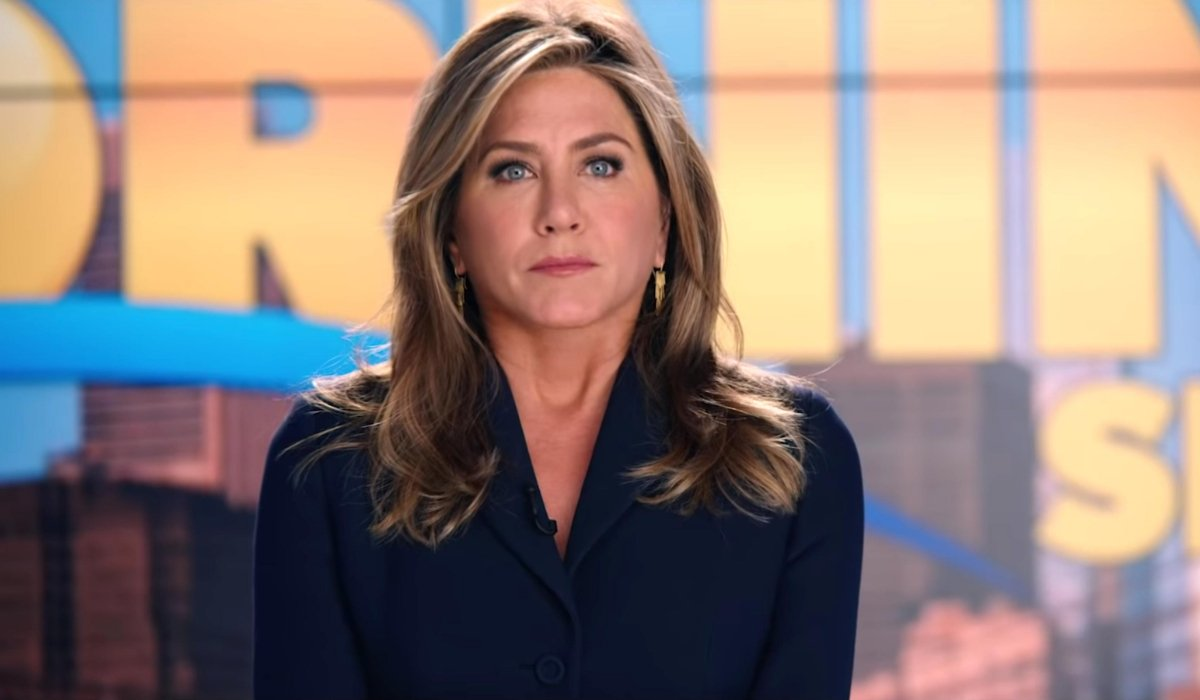 The Morning Show Jennifer Aniston delivering an important message on set