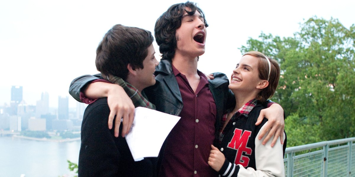 Logan Lerman, Ezra Miller, and Emma Watson in The Perks of Being a Wallflower