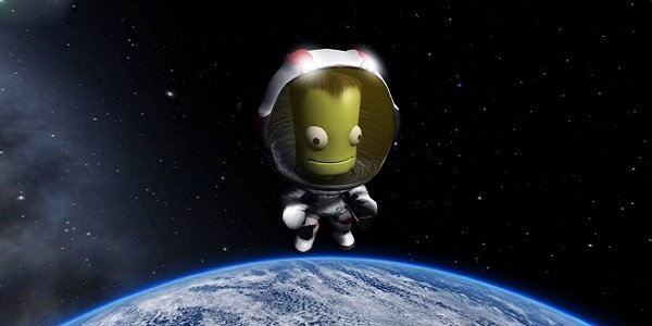 Kerbal floats in space