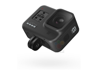 The hinged mounting plate of the GoPro Hero8 Black