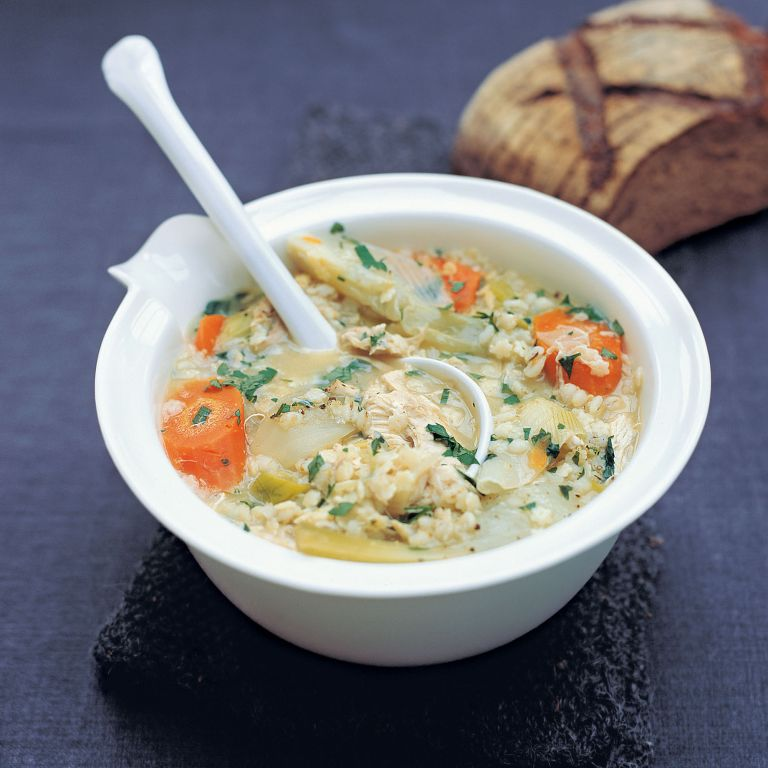 Chicken and Barley Broth recipe-chicken recipes-recipe ideas-new recipes-woman and home