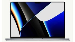 The Apple MacBook Pro 16-inch 2021 against a pure white background