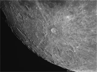 Tycho Crater on Moon by Chumack