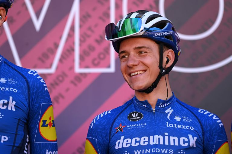 Remco Evenepoel at the 2021 Giro d'Italia