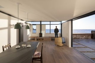 an extension to a listed coastal house