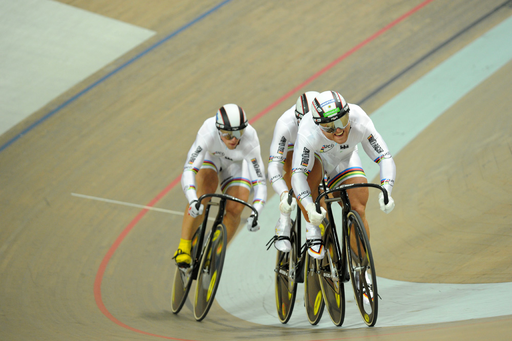 Germany win team sprint, European Track Championships 2010
