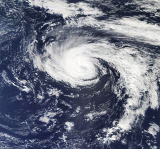 Hurricane Nadine on Sept. 30. On Oct. 1., 2012, it was downgraded to a tropical storm.