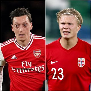 Mesut Ozil and Erling Haaland