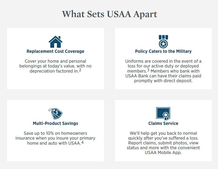 USAA Homeowners Insurance Review - Premiums, Coverage | Top