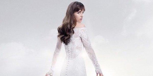 fifty shades wedding dress dakota johnson
