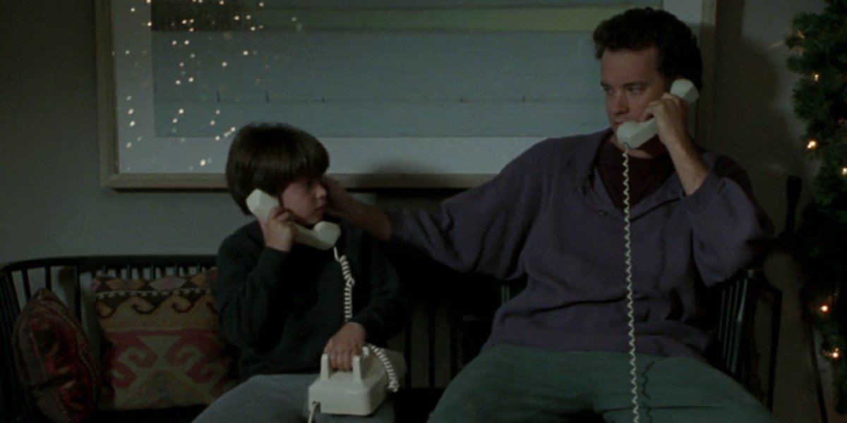 Tom Hanks and Ryan Malinger in Sleepless in Seattle