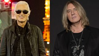 A picture of Jimmy Page and Joe Elliott