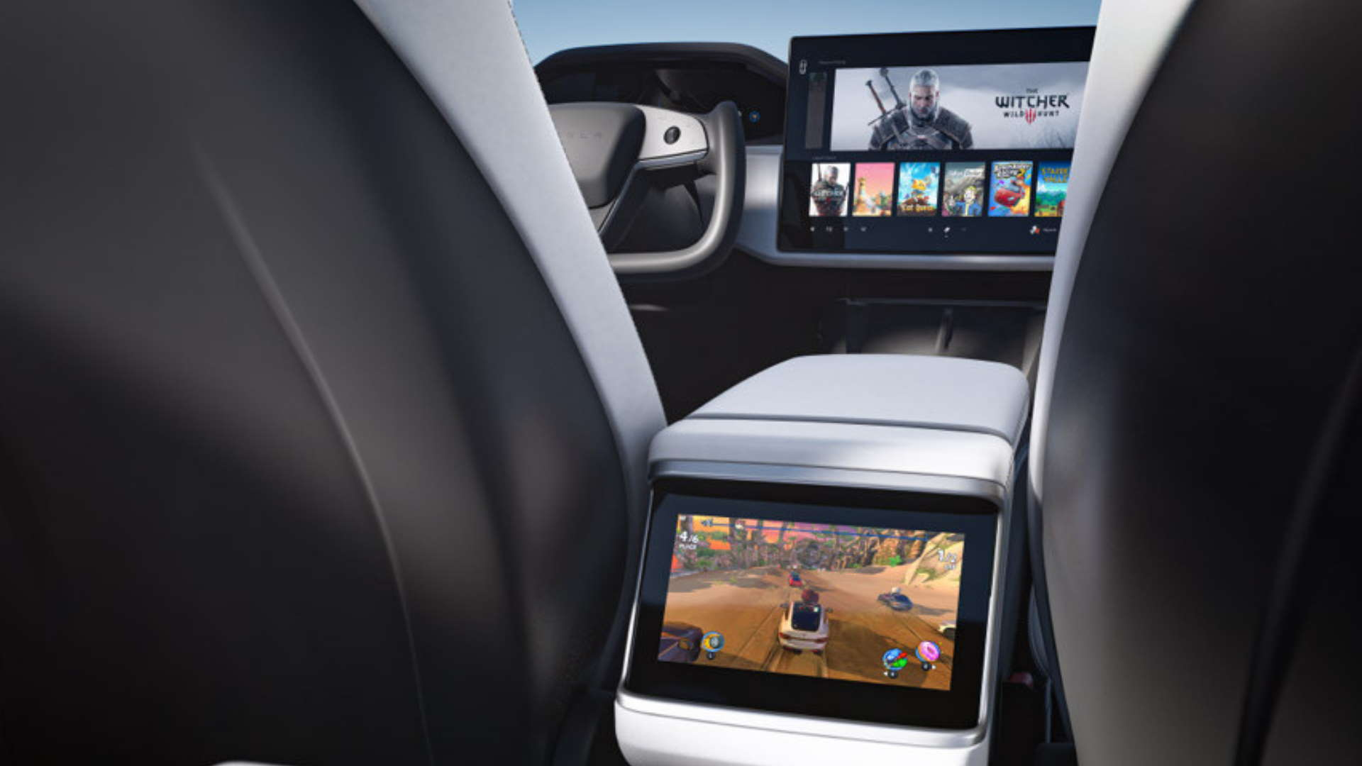 You can play Cyberpunk 2077 on the gaming PC inside the new Tesla Model S